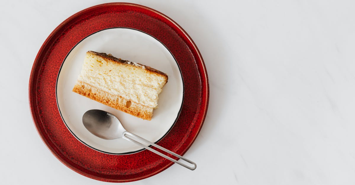 A piece of cake on a plate